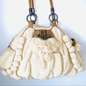 Juicy Couture Oversized Knitted Cable Knit Bag